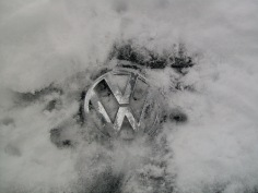 Volkswagen Snow Covered