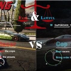 Cop Vs Racer Poster