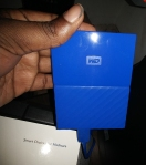 WD My Passport HD Plugged in